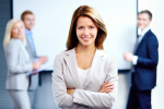 http://www.dreamstime.com/royalty-free-stock-photos-business-lady-portrait-smiling-women-looking-camera-three-employees-behind-image31600058